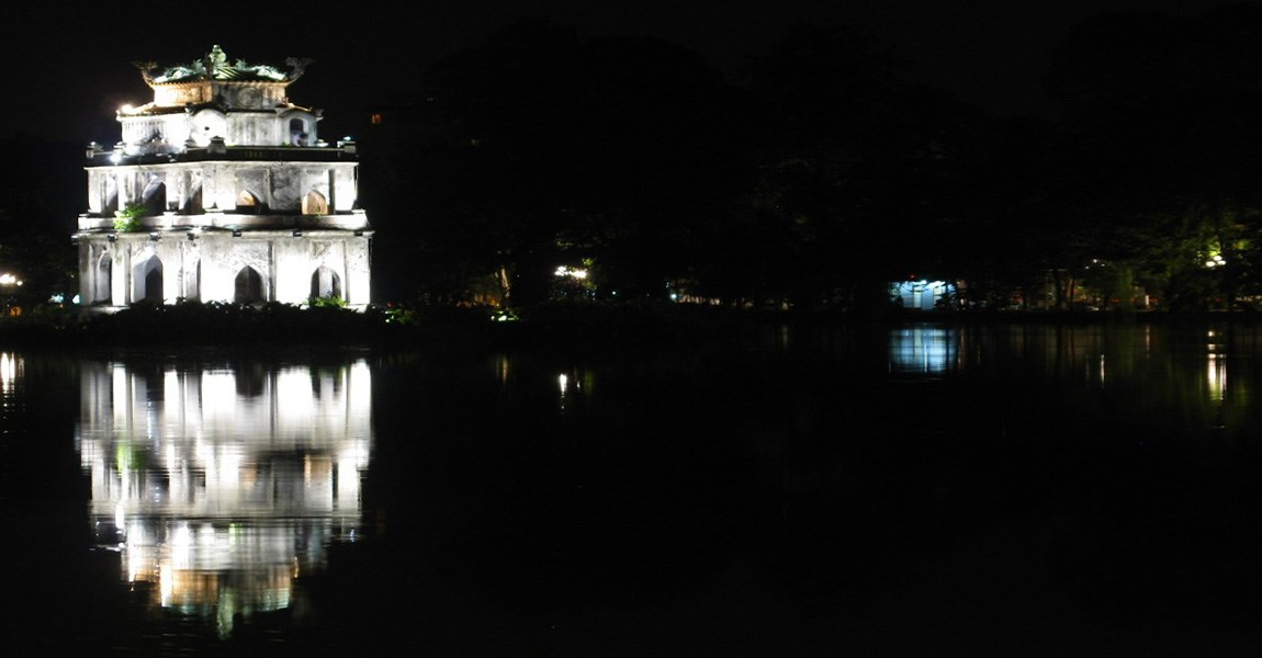 Tortoise Tower in Hoan Kiem Lake